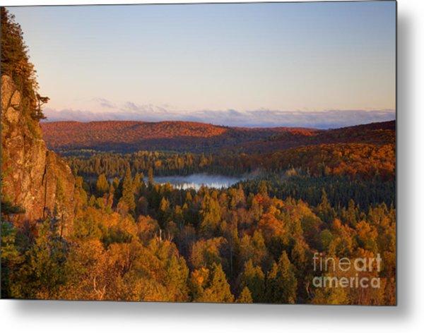 Fall Colors Orberg Mountain North Shore Minnesota Metal Print