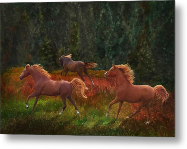 Fall Dancers Metal Print