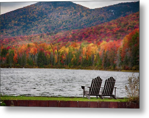 Fall Foliage At Noyes Pond Metal Print