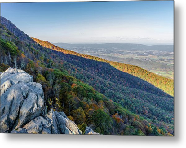 Metal Print featuring the photograph Fall Foliage In The Blue Ridge Mountains by Lori Coleman