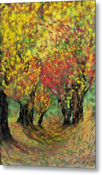 Fall Impression Metal Print by Harry Dusenberg