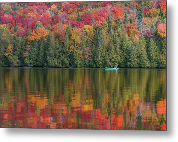 Fall In A Canoe Metal Print