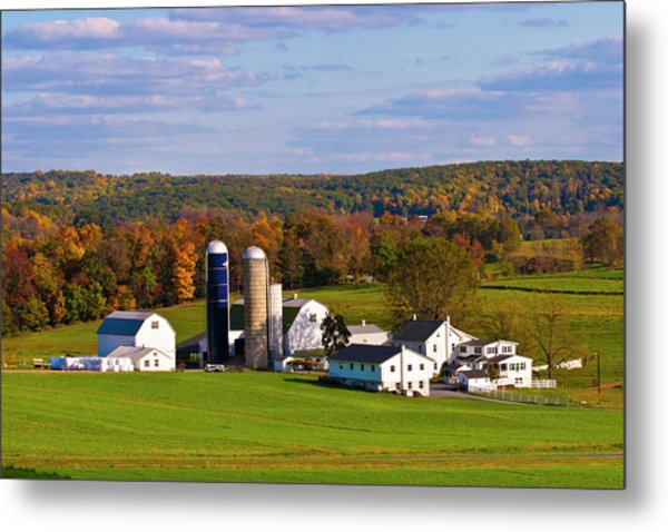 Fall In Amish Country Metal Print