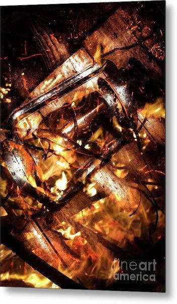 Fall In Fire Metal Print