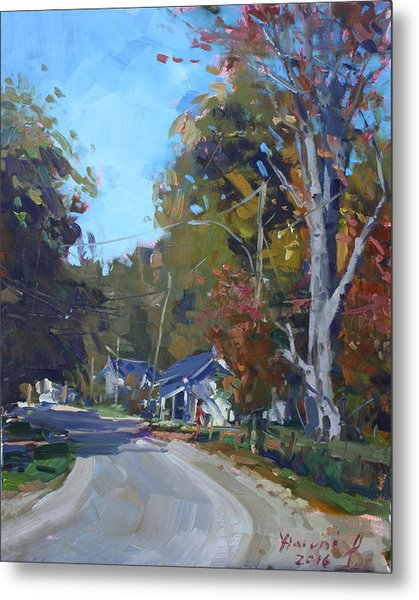 Fall In Glen Williams On Metal Print