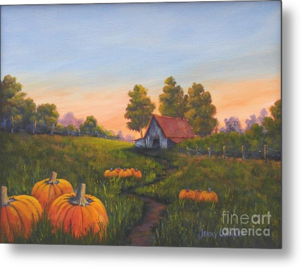 Fall In The Air Metal Print by Jerry Walker