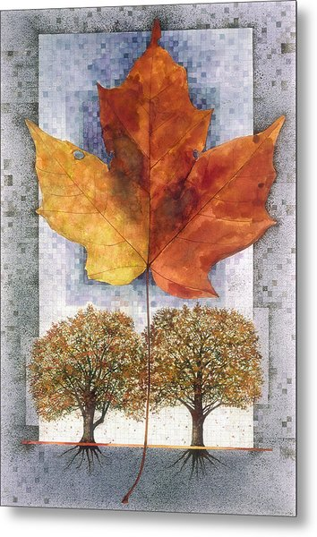 Fall Leaf Metal Print