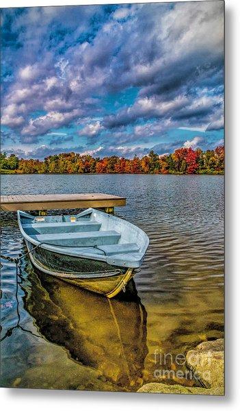 Fall On Alloway Lake Metal Print