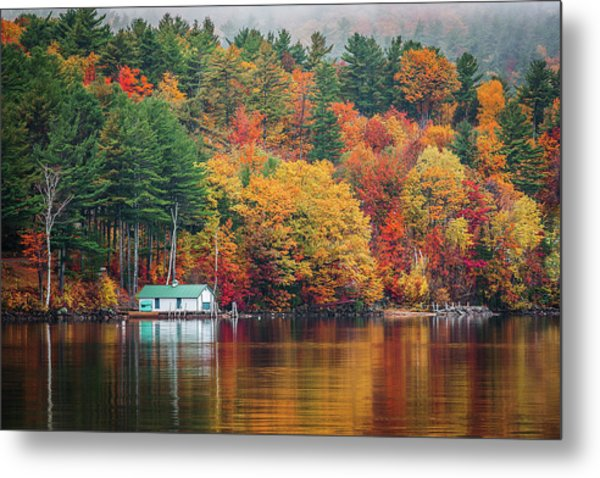 Fall On Lake Winnipesaukee Metal Print