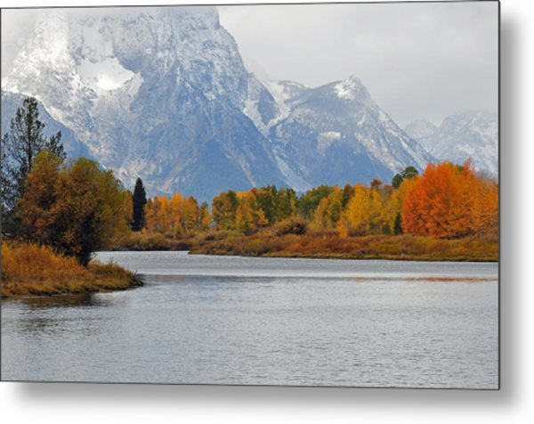 Fall On The Snake River In The Grand Tetons Metal Print
