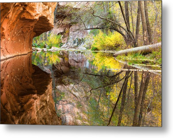 Fall Reflections Metal Print by Carl Amoth