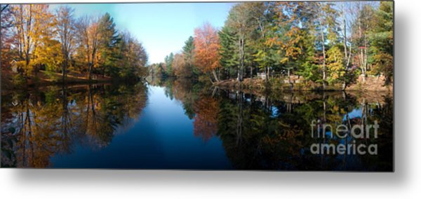 Fall Reflections Metal Print by David Bishop