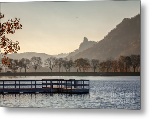 Fall Sugarloaf With Huff And Pier Metal Print