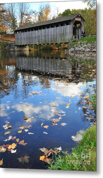 Fallasburg Covered Bridge 16 Metal Print