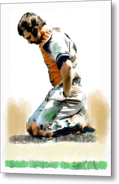 Fallen Captain Thurman Munson Metal Print