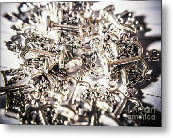 Fallen Court Of Law Metal Print