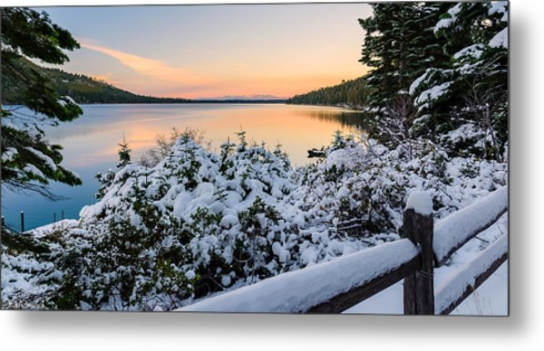 Fallen Leaf Lake Metal Print