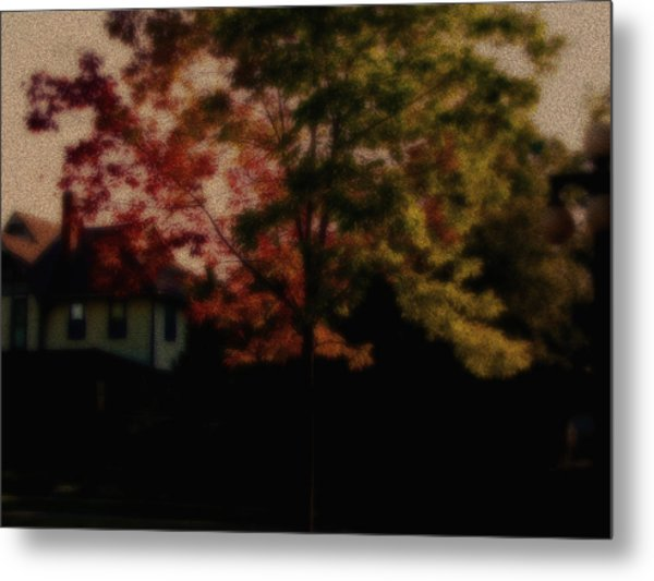 Falling Into Fall From The Past Metal Print by Martin Morehead