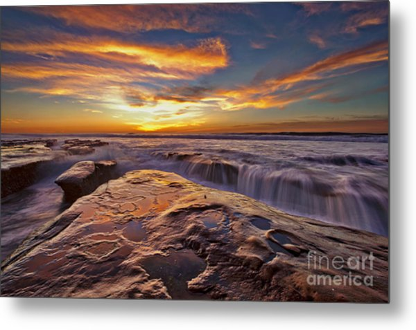 Metal Print featuring the photograph Falling Water by Sam Antonio Photography