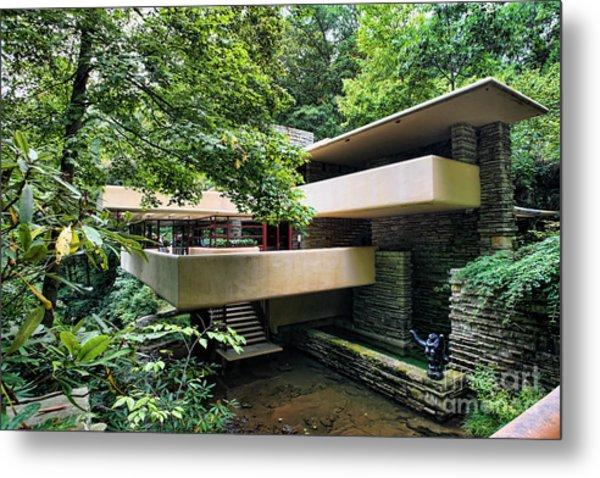 Fallingwater Frank Lloyd Wright Architect Metal Print