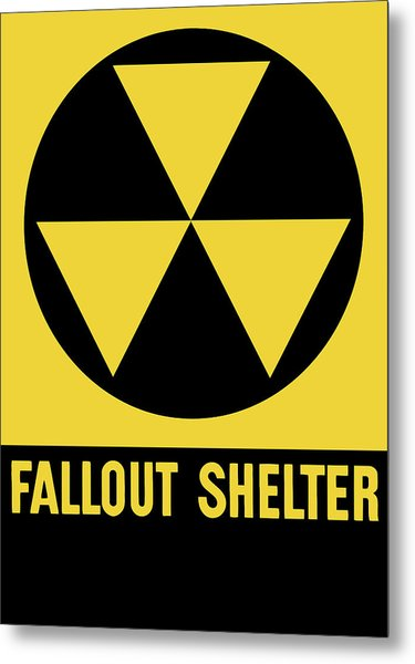 Fallout Shelter Sign Metal Print