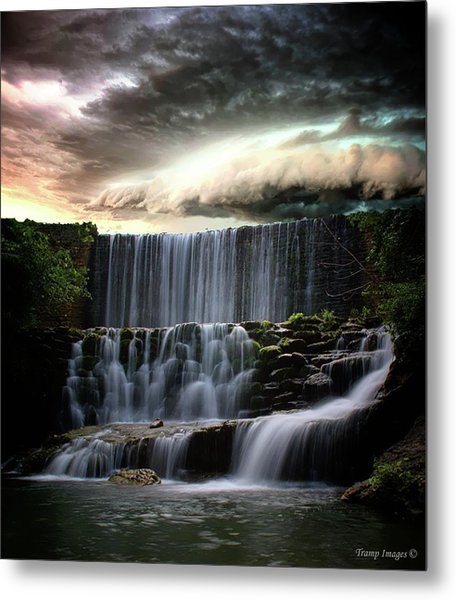 Falls At Mirror Lake Metal Print