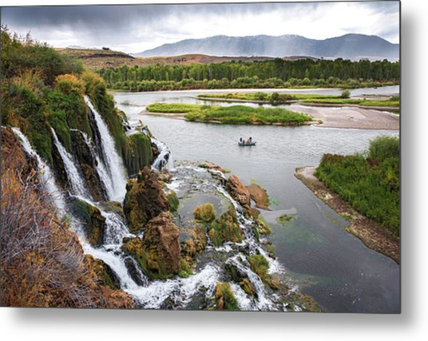 Falls Creak Falls And Snake River Metal Print