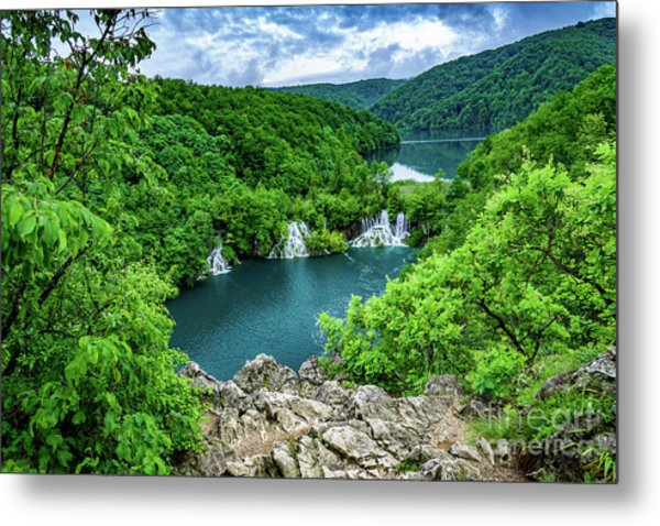 Falls From Above - Plitvice Lakes National Park, Croatia Metal Print