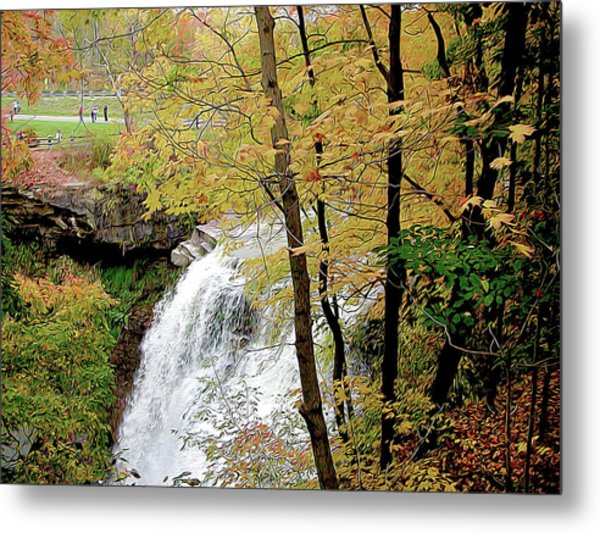 Falls In Autumn Metal Print