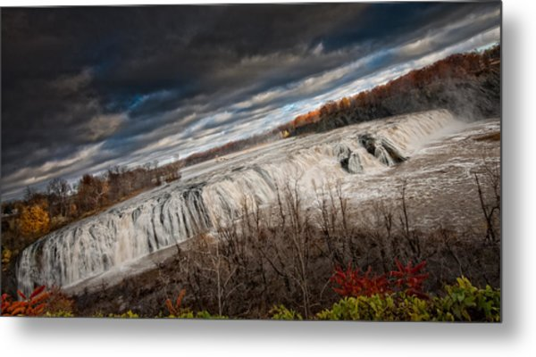Falls Power Metal Print