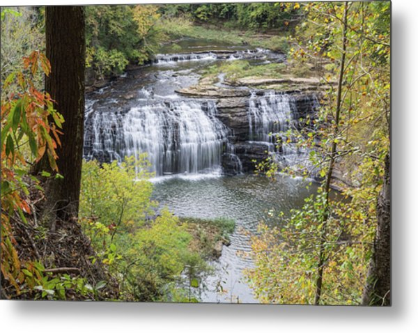 Falls Through The Trees Metal Print