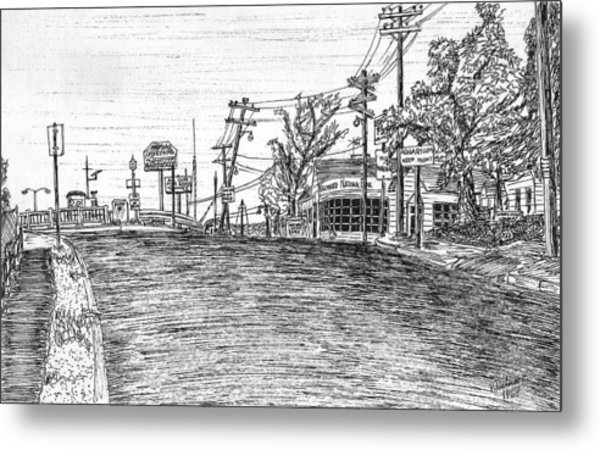 Falmouth National Bank At Entrance To Woods Hole Metal Print