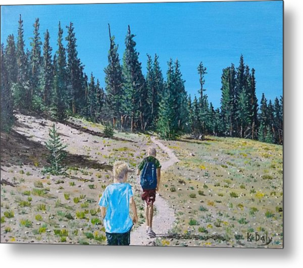Family Hike Metal Print