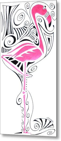 Fanciful Flamingo Metal Print