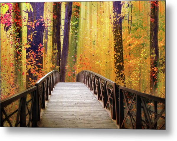 Metal Print featuring the photograph Fanciful Footbridge by Jessica Jenney