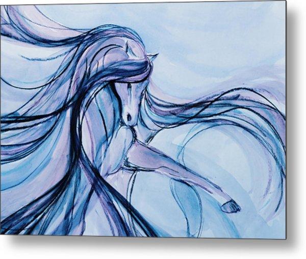 Fancy Blue Dancer Metal Print