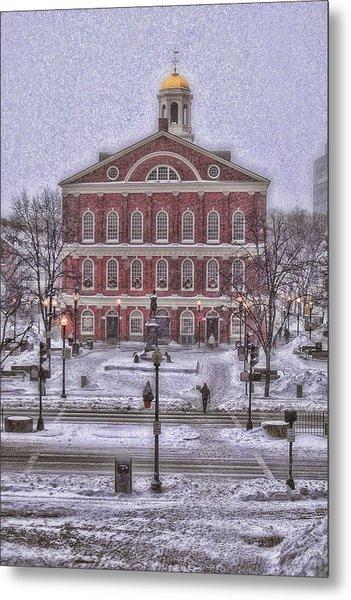 Faneuil Hall Snow Metal Print