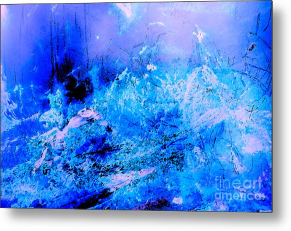 Fantasy Blue Artwork Metal Print