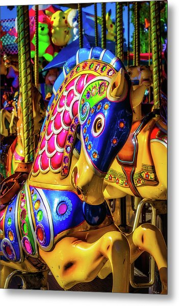 Fantasy Carrousel Ride Metal Print