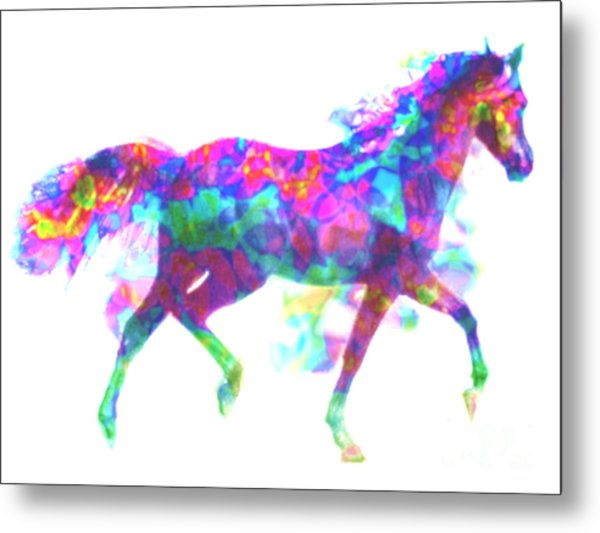 Metal Print featuring the painting Fantasy Horse by Elinor Mavor