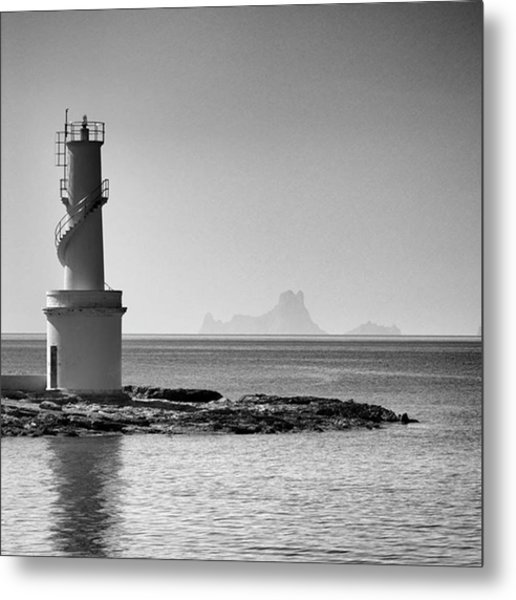 Far De La Savina Lighthouse, Formentera Metal Print