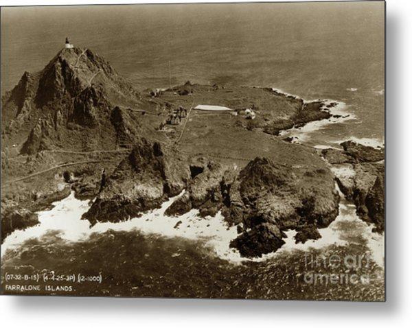 Farallon Island Lighthouse Pacific Ocean April 4, 1924 Metal Print