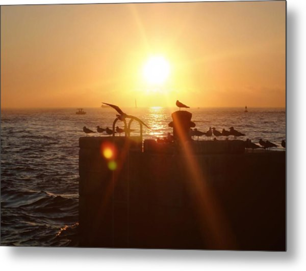 Farewell The Day Metal Print by JAMART Photography