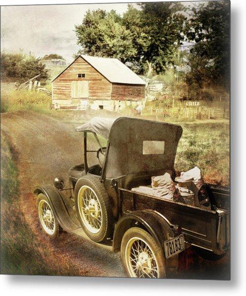 Farm Delivered Metal Print