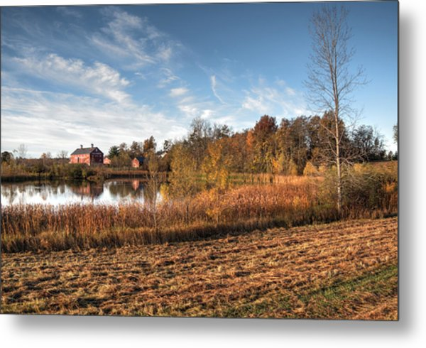 Farm Fall Colors Metal Print