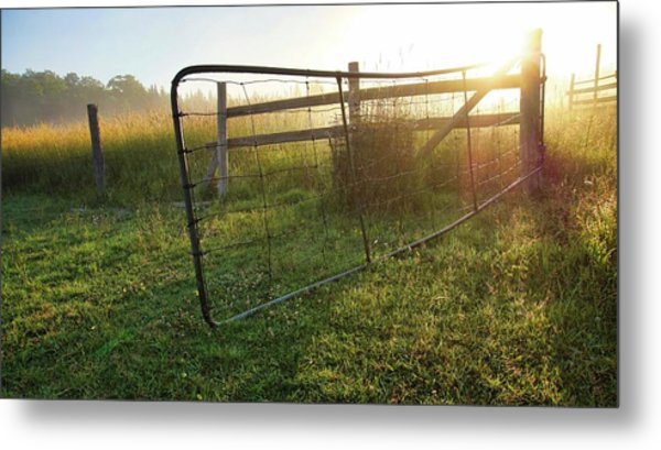 Farm Gate Metal Print