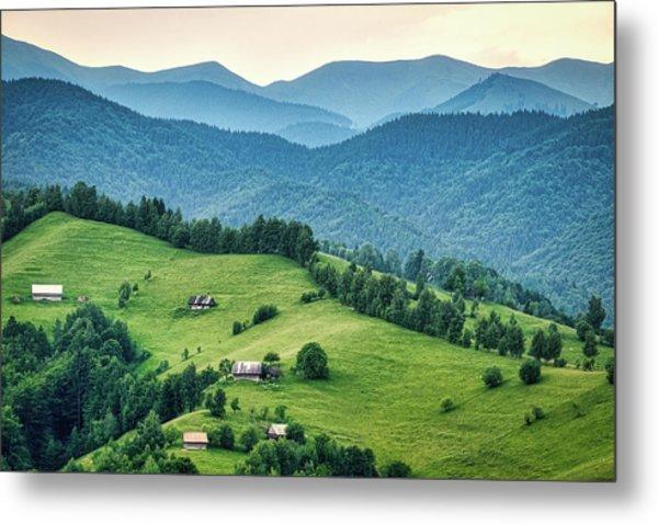 Farm In The Mountains - Romania Metal Print