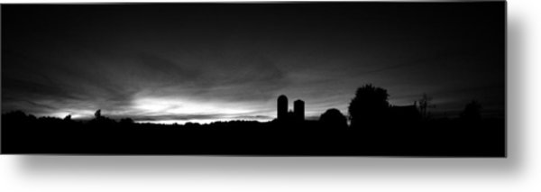 Farm Silhouette II Metal Print by William Haney