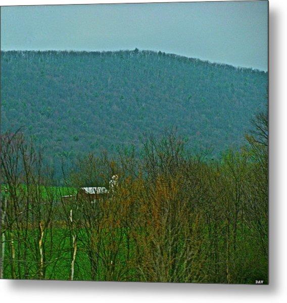Farm Tucked Mountaintop  Metal Print by Debra     Vatalaro