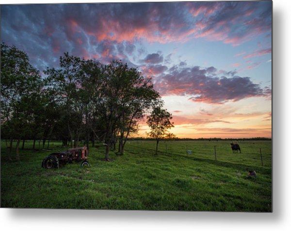 Farm View  Metal Print